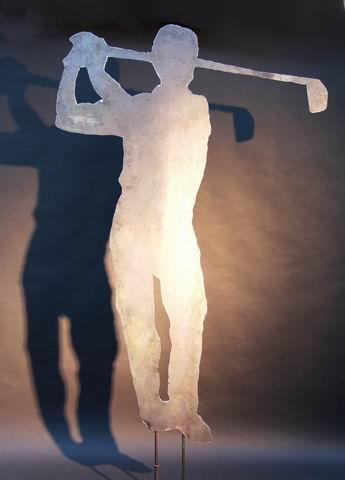 Golfer - Skulptur aus Stahl plasmageschnitten