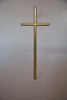 Kreuz für einen Grabstein aus Aluminium