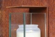 wunderschönes Grablicht oder Grablaterne aus Corten Stahl
