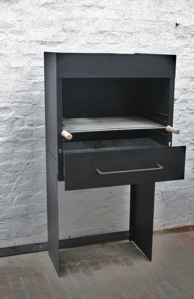 garten grill aus stahl. Black Bedroom Furniture Sets. Home Design Ideas