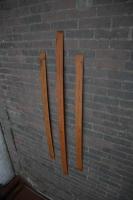 Wandleuchten aus rostigem Stahl gelasert