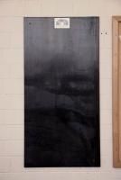 Magnetpinnwände aus 3 mm Stahlblech, schwarz verzundert und klar lackiert