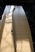 gebogener Edelstahlhandlauf - Handlauf aus geschliffenem Edelstahl D 42 mm