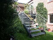 Edelstahlhandlauf für ein vorhandenes Geländer