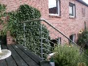 Edelstahlhandlauf für ein Treppengeländer
