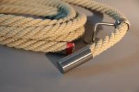 Handlauf Seil, Seilhalter und Seil Endstücke