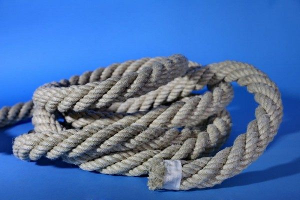 Handlauf Seil aus  38 mm Hanfseil