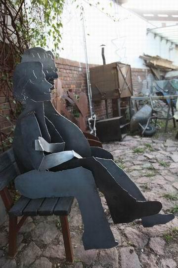 Skulpturen aus Stahl