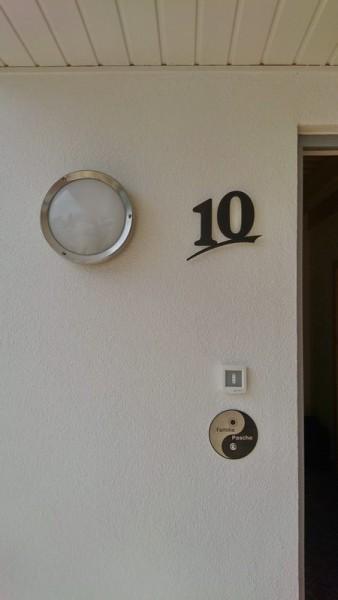 großes Yin Yang Klingelschild aus Edelstahl