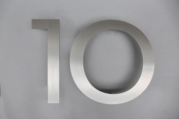 """Edelstahl Hausnummer """"10"""""""