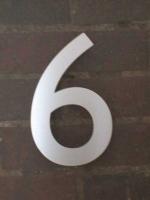 Hausnummer aus 3mm Edelstahl