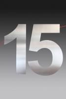schicke Hausnummer aus 3 mm Edelstahl gelasert