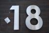 30 cm hohe Hausnummer aus geschliffenem Edelstahl