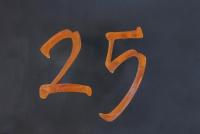 """Hausnummer """"25"""" aus CorTenStahl"""