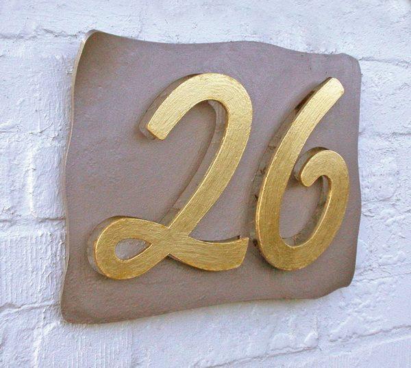 Geschmiedete Hausnummer