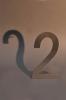 Einstellige Hausnummer aus Edelstahl