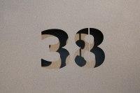 Hausnummern lackiert, foliert oder pulverbechichtet