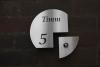 Klingelschild mit Hausnummer aus Edelstahl, anlassbeschriftet