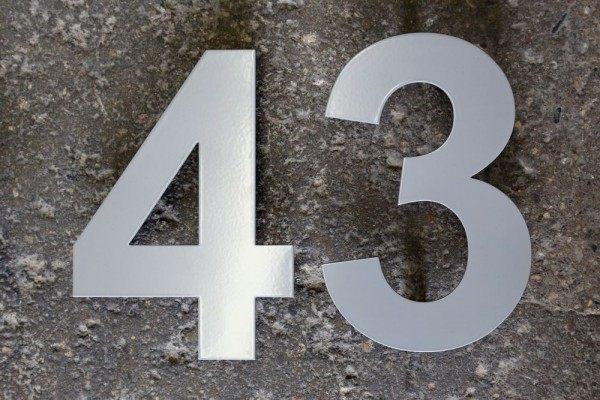 pulverbeschichtete Edelstahl Hausnummer