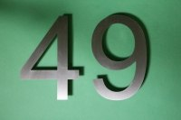 Edelstahl Hausnummer 49