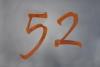 """Hausnummer """"52"""" aus CorTen Stahl"""