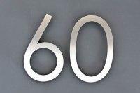 Edelstahl Hausnummer 60
