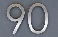 Zweistellige Hausnummer aus 3 mm starkem Edelstahl