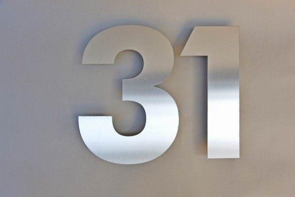 """""""31"""" Zweistellige Hausnummer"""