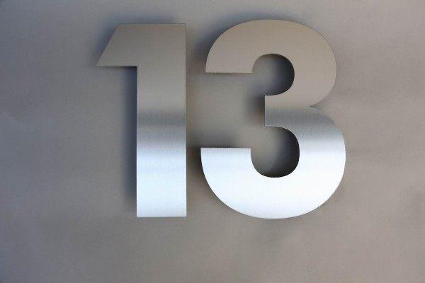 """""""13"""" Zweistellige Hausnummer in 30 cm"""