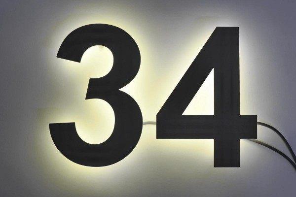 pulverbeschichtete LED Edelstahl Hausnummer (Kopie)