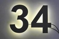 pulverbeschichtete LED Edelstahl Hausnummern