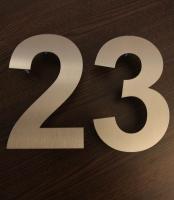 klasse Hausnummer aus Edelstahl