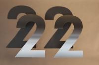 Gut sichtbare Hausnummer aus 3 mm Edelstahl gelasert