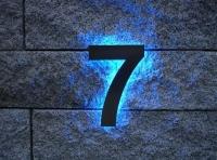 Hausnummer aus Edelstahl ohne / mit LED´s