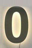 Hausnummer 0 aus 3mm Edelstahl