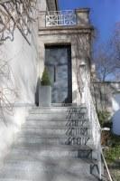 Haustür mit Stahl beplankt