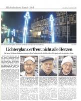 Artikel aus der HAZ über die Weihnachtsbeleuchtung in Bad Salzdetfurth