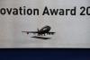 Award aus Acrylglas und anlassbeschriftetem Edelstahl