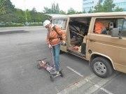 Motor Kite Board, ziemlich abgefahren, wir durften helfen