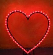 Rotleuchtendes Lichterketten Herz