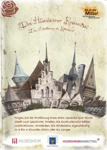Eine neue Attraktion in Hildesheim. Das Hildesheimer Rosenrätsel