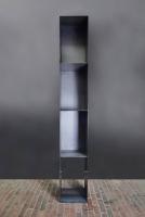 Kaminholz Regal, teilweise mit einer Rückwand