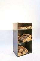 Holz Regal mit Rückwand und einem Extrafach für Anmachholz