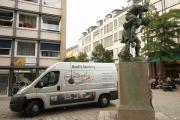 Restaurierung des Huckup Denkmals in Hildesheim nach einer mutwillen Zerstörung