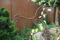 Huhn Skulptur aus rostigem Stahl
