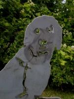 Hund aus Stahl plasmagetrennt