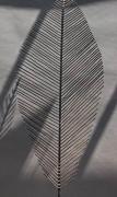 Blatt Skulptur aus 4 mm Rundeisen