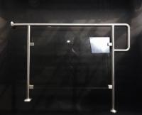 Treppengeländer aus Edelstahl und Sicherheitsglas mit LED im Handlauf