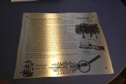Anlaßbeschriftung auf 3mm Edelstahl Blech