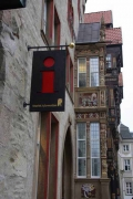 überarbeiteter Ausleger für die neue Stadtinformation in Hildesheim